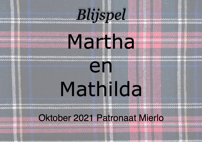 Martha en Mathilda naar oktober 2021